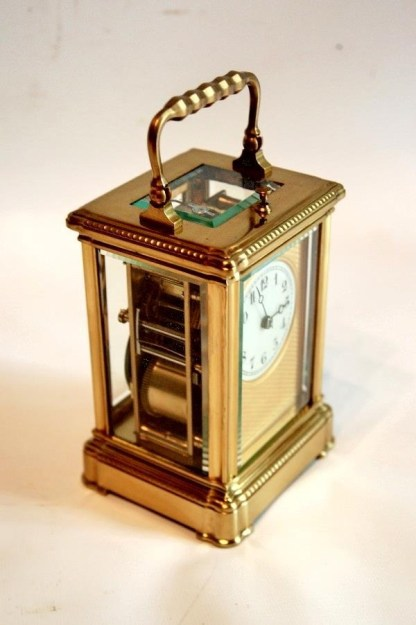 side view repeating carriage clock