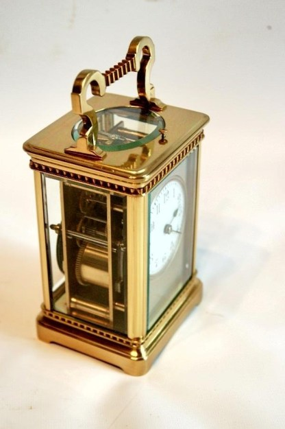 side view french carriage clock
