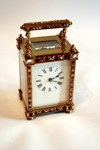 ornate carriage clock