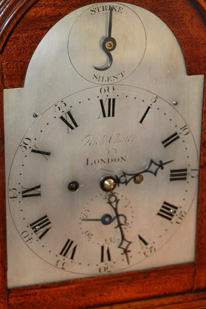 Richard Chater brass silvered clock dial