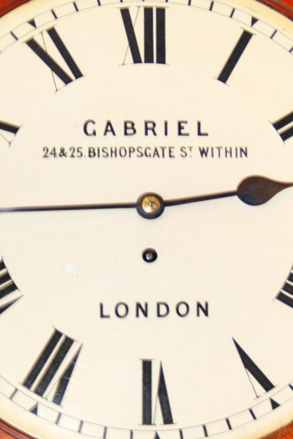 Dial on London dial clock by Gabriel