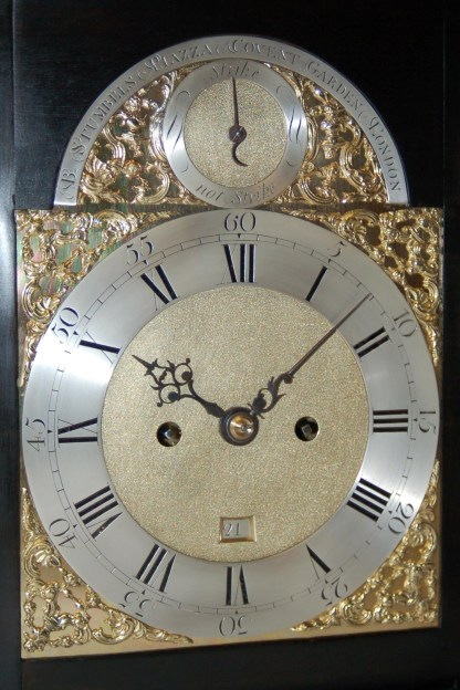 Stumbels Covent Garden Bracket Clock dial