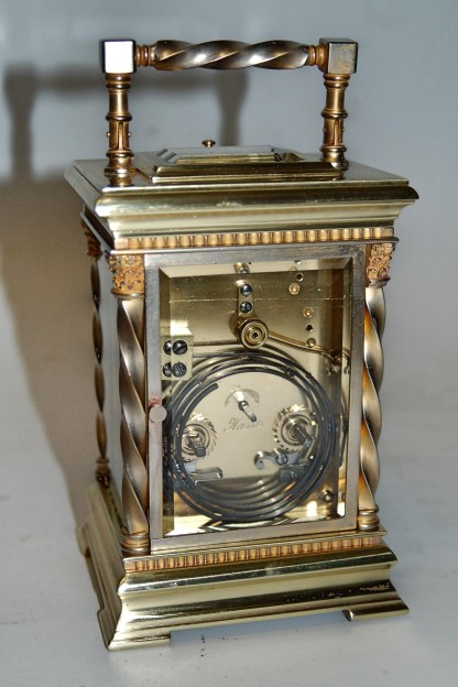 Rear view French carriage clock