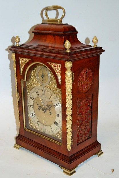 mahogany Georgian bracket clock