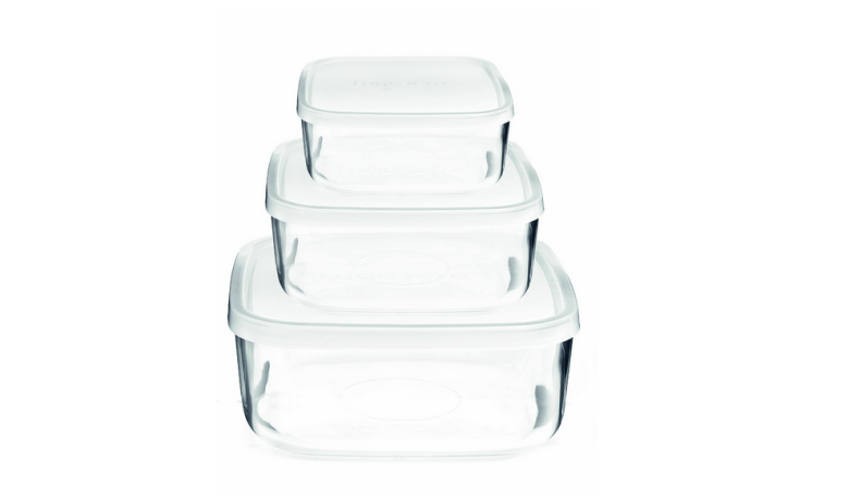nice glass plain storage food container