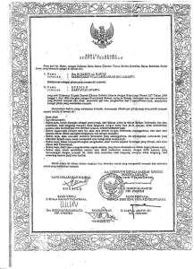 Certificate of Sworn Translator