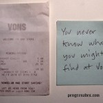 receipt from Von's supermarket
