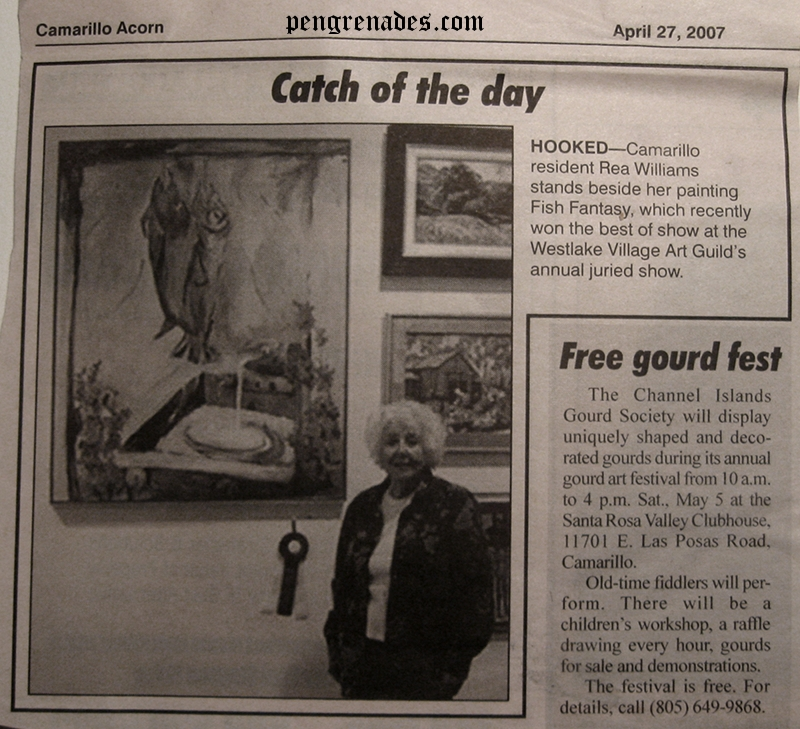 newspaper clipping from the Camarillo Acorn