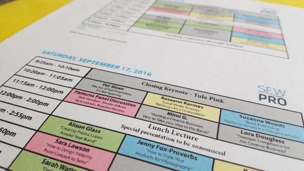 SewPro Schedule