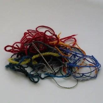 handspun yarn ends