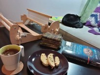 weaving ... and biscotti