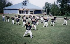 Taijiquan on the 55 Plus Centre lawn