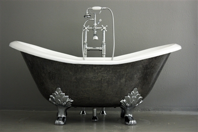 The Stratford 61 Cast Iron Double Slipper Clawfoot Tub