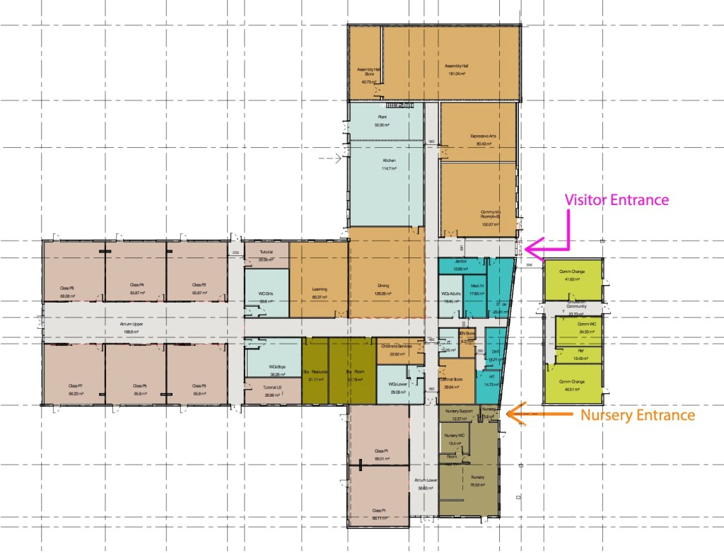 Floor plan of school © AHR Architects/Midlothian Council