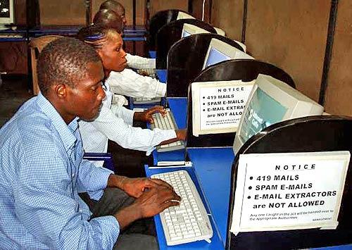 African Internet cafe