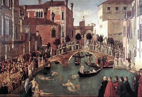Painting of Venice by Bellini, 1500.