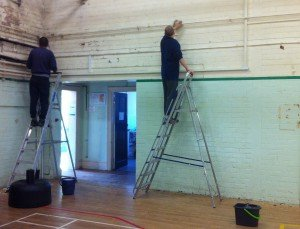 painting up ladders