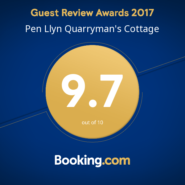 booking.com award for Quarryman's Cottage