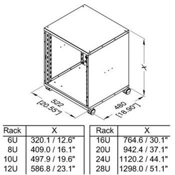 12u 19 inch flat pack rack cabinet 480mm 18 9 deep r8400 12
