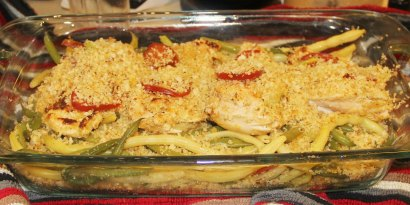 Baked Chicken with Snap Beans