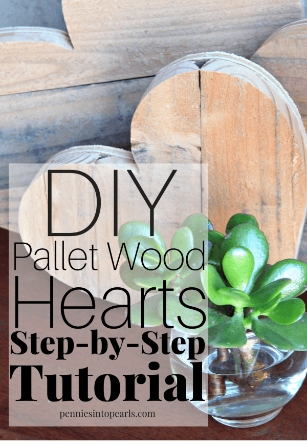 You can make these pallet wood hearts in less than an hour using this DIY tutorial. This is the perfect DIY project to use up pallet wood, barn wood, or any left over scrap wood.