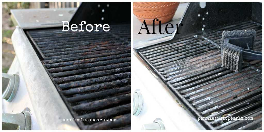BBQ Clean Up Grill Before & After