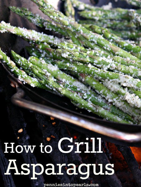 Grilled asparagus pin