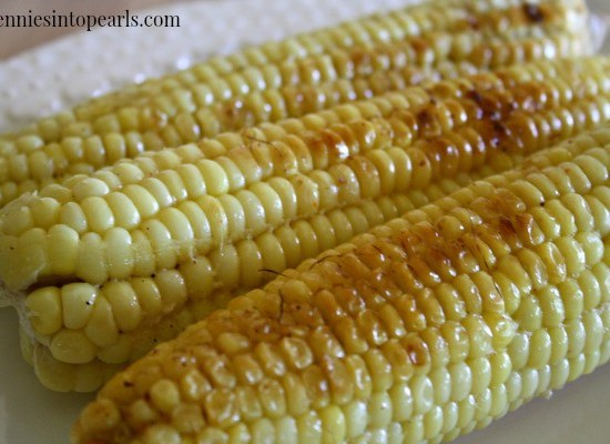 Grilled Corn on the Cob - penniesintopearls.com - Follow this recipe for the best tasting grilled corn on the cob recipe