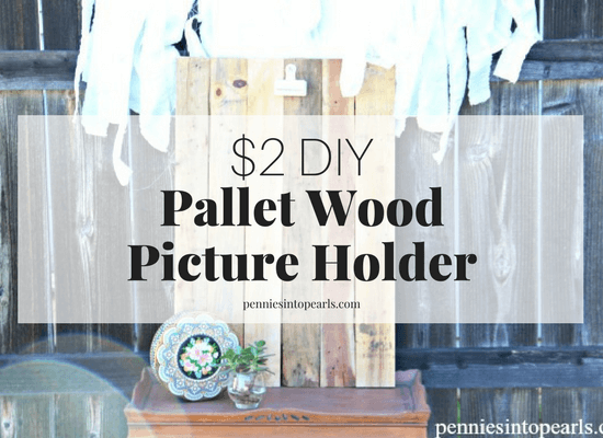 This is a super easy DIY pallet wood project that wont cost you more than a couple dollars and less than an hour of time! Using any pallet wood scraps you have, follow this pallet wood tutorial to create a new piece of frugal and fabulous decor for your home!