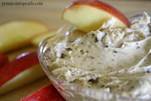 Cream Cheese Fruit Dip - penniesintopearls.com - Quick and cheap fruit dip recipe. Taste so good you won't want to stop!