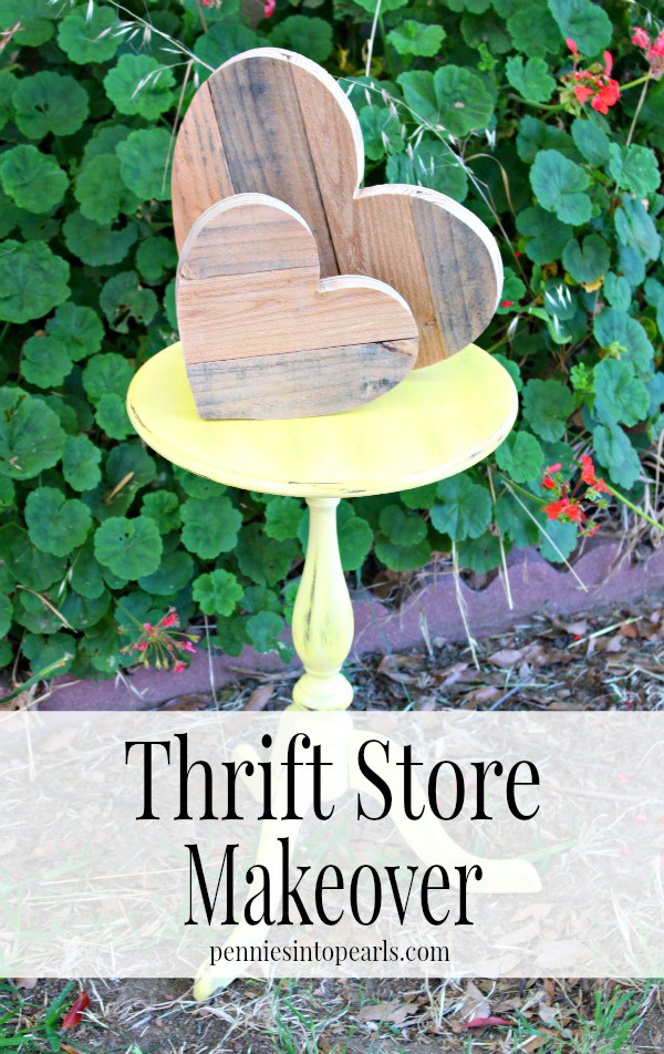 Small End Table Makeover -penniesintopearls.com - Tips on how to make over you thrift store find. The easiest way to makeover your thrift store find!