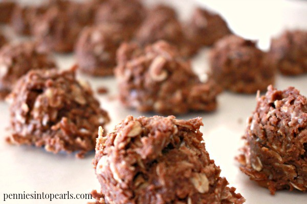 Toffee Crunch No Bake Cookie Recipe - penniesintopearls.com - A new twist on your favorite no bake cookie recipe. Click to see how this secret ingredients bumps the entire no bake cookie recipe up a notch!