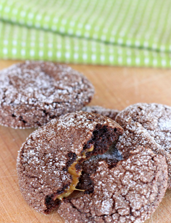 Caramel Filled Chocolate Cookies 2
