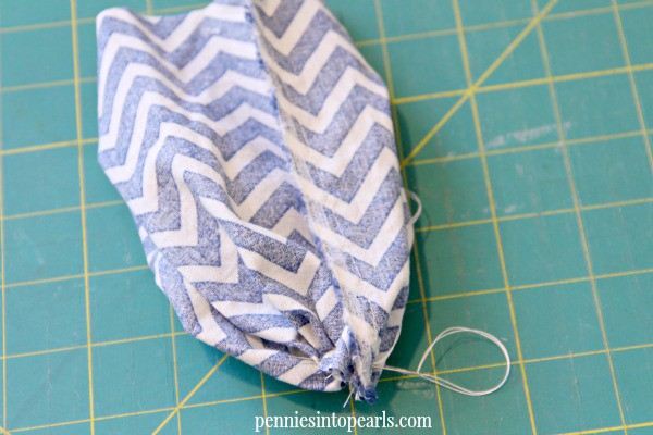How to Make Fabric Pumpkins. Step by step tutorial on how to make fabric pumpkins in less than 10 minutes.