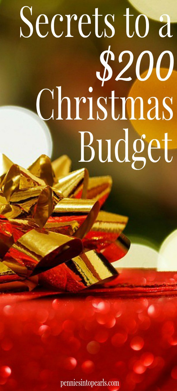 $200 Christmas Budget. Love how this article shares her secret to only spending $200 on Christmas!
