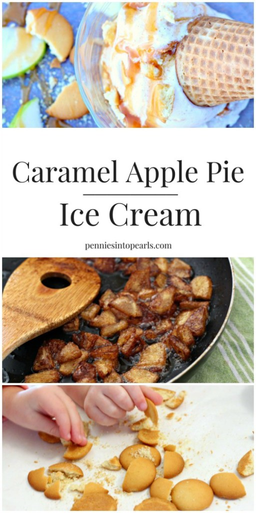Caramel Apple Pie Ice Cream - Love how easy this ice cream recipe is! Caramel apple pie ice cream is the perfect treat all year long!