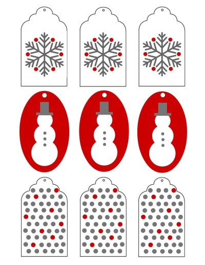 Free Printable Christmas Tags. I just printed off five copies and these free Christmas Gift Tags made my presents super cute!
