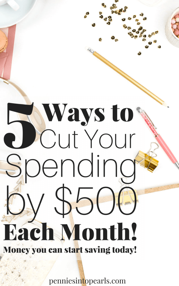 Save $500/mo with these 5 Quick Tips. I love her budget tips especially the one on how to use YouTube to save money. It all adds up really quickly to help you cut spending and save more money!