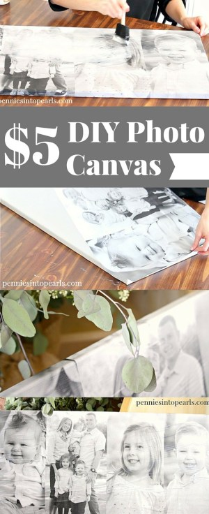 DIY Photo Canvas using cheap engineer prints. Quick and cheap diy to get an expensive Photo Canvas look for less. How to make a photo canvas using engineer prints and mod podge.