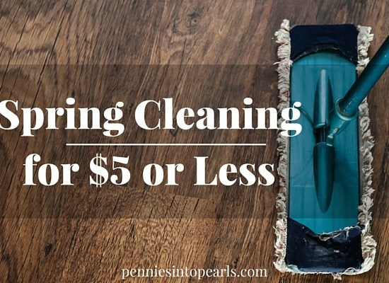 Spring Cleaning Tips all done for $5 or Less! Five tried and tested cleaning products from the Dollar Tree to help with your spring cleaning this year!