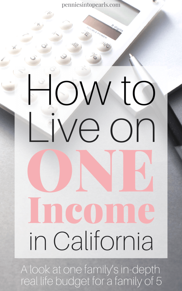 Living on one income can be tricky, especially when you live in an expensive city. If you want realistic tips on how to live on one income, THIS IS IT! Here are our budget's REAL NUMBERS for our one income family of 5, living in one of the most expensive cities in the country.