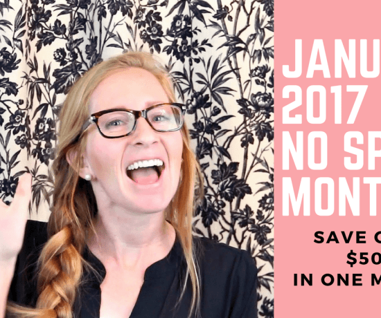 January 2017 No Spend Month Challenge Invitation