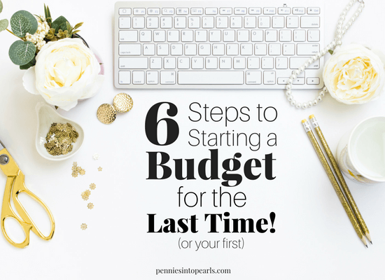 Are you confused on how to start a budget? Have you tried to start a budget before but never figured out how to stick with it? Here are 6 super simple steps on how to start a budget that is customized to your personal finances making it super realistic and easy to follow!