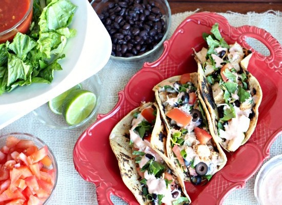 This super quick and healthy taco dinner is the perfect recipe to feed a crowd. You don't want leave out the lite chipotle taco sauce to give your taco recipe the spice it needs to temp all your friends!