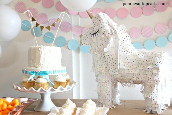 Use these magical unicorn birthday party ideas to throw your next party and keep your party budget under $50! That includes everything you need for your unicorn party! The food, the decorations, the games, EVERYTHING! These are the perfect party on a budget tips!