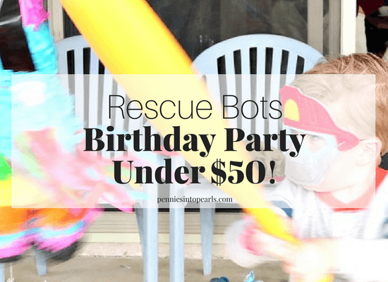 Use these rescue bots birthday party ideas to throw your next party and keep your party budget under $50! That includes everything you need for your rescue bots party! The food, the decorations, the games, EVERYTHING! These boys birthday party ideas are perfect for your little guy! The perfect party on a budget tips!