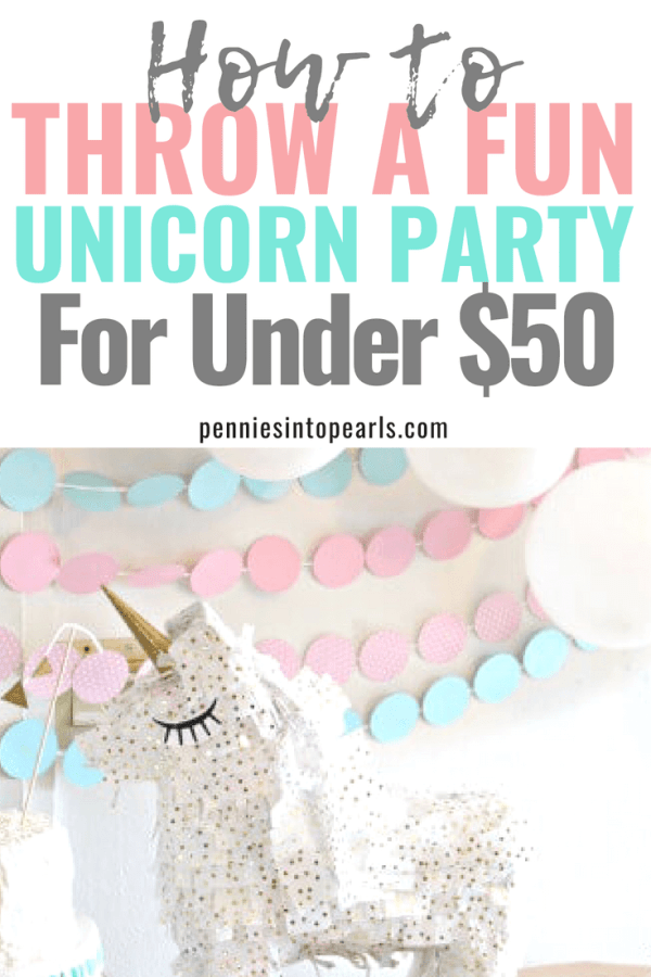 This article helped me throw the most fun unicorn party on a small budget!  I didn't think it would be possible to have a nice party for under $50 but I did it!  My daughter's DIY party was so much fun and so easy to do with these awesome party ideas!
