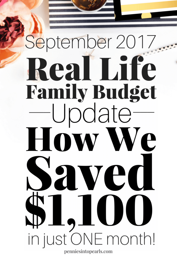 Real Life Family Budget Update