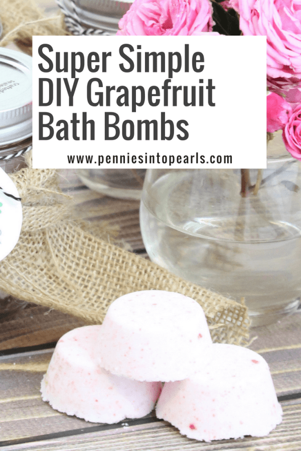 These easy lush-inspired homemade bath bombs are so simple to make! And adding the grapefruit essential oils is the perfect way to relax after a long day!
