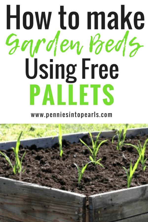 These DIY raised garden beds were so easy to make and they were so cheap since we used free pallets!! The garden beds are such an awesome addition to my backyard landscape!